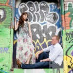 Toronto Graffiti Train Urban Engagement Photos 03 150x150 Engagement shoot   Downtown Toronto   Graffiti and Urban Theme   Kevin and Tanya