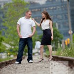 Toronto Graffiti Train Urban Engagement Photos 15 150x150 Engagement shoot   Downtown Toronto   Graffiti and Urban Theme   Kevin and Tanya