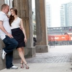 Toronto Graffiti Train Urban Engagement Photos 18 150x150 Engagement shoot   Downtown Toronto   Graffiti and Urban Theme   Kevin and Tanya
