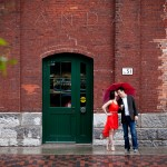 Engagement Photos Distillery District Brookfield Place Toronto Umbrella 1 150x150 Engagement Shoot in Downtown Toronto at the Distillery District and Brookfield Place; K+Larry