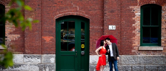 Engagement-Photos-Distillery-District-Brookfield-Place-Toronto-Umbrella-1