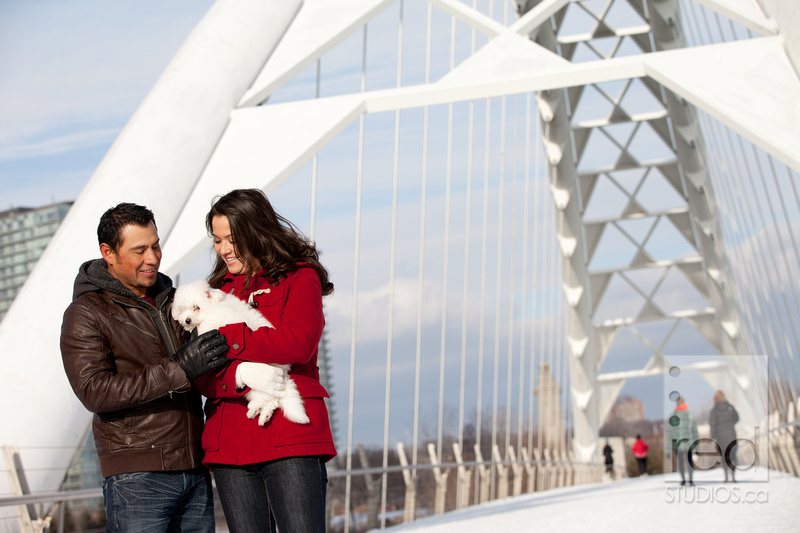 Engagement Shoot Winter In Toronto Humber Bridge And Union Station Carlos Ashley Red Studios