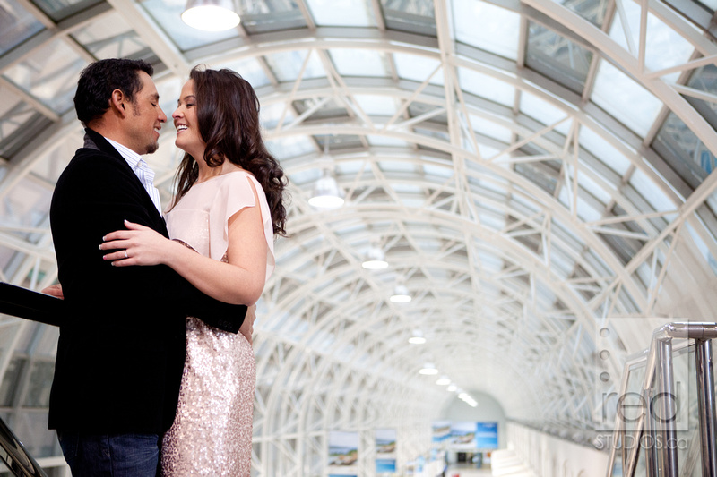 Engagement Shoot Winter Toronto Humber Union Station